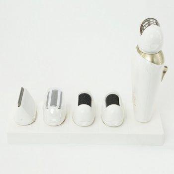 Епілятор жіночий Gemei акумуляторний 5 в 1 для видалення волосся Original базою для підзарядки Білий (GM7005)