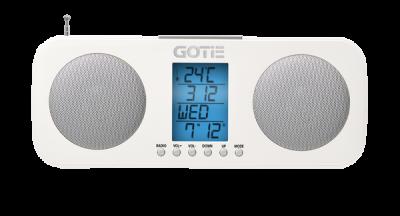 Радіогодинник GOTIE GRA-200B Білі