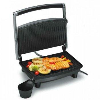 Гриль WimpeX для м'яса і овочів притискної сэндвичница паніні бутербродниця Original 1200 Вт Сталевий з чорним (WX-1060)