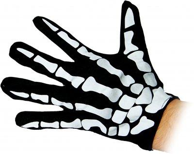 Перчатки Seta Decor Скелет 11-9 Черно-белые (2000037273017)
