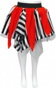 Юбка Seta Decor Пиратка 18-840 122-134 см Черно-белая с красным (2000046155014)