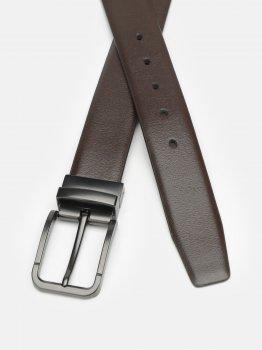 Мужской ремень кожаный Laras CV10023-4-brown 120-130 см Коричневый (ROZ6400028281)