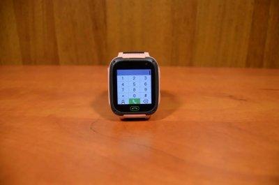 Смарт-годинник Smart наручні дитячі розумні з LED-ліхтариком багатомовні Black-Pink (F2-2)