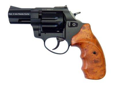 """Револьвер флобера STALKER 4 мм 2,5"""" (барабан: сталь / черный / пластик под дерево)"""