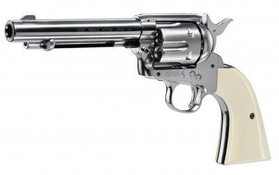 Пистолет пневматический Umarex Colt Single Action Army 45 (пульки) White
