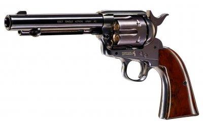 Пистолет пневматический Umarex Colt Single Action Army 45 (пульки) Brown