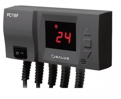 Контролер вентилятора твердопаливного котла і насоса Ц. О. SALUS PC16F