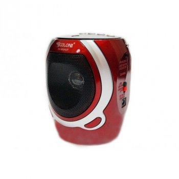Акустическая система Golon аккумуляторное FM радио со встроенным фонариком и портом USB колонка радиоприемник Красный (RX-902)