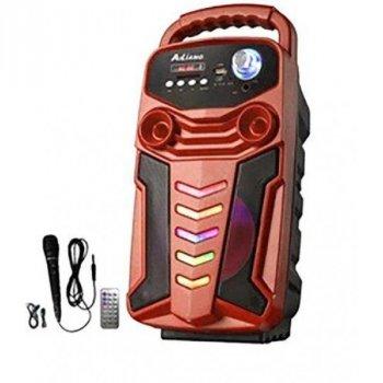 Портативна акустична система Bluetooth колонка з мікрофоном і пультом X-BASS Lige 3610-DT Red