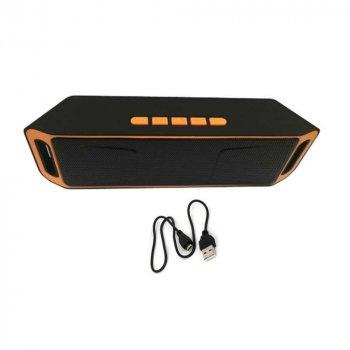 Акустична система UKC портативна колонка Megabass A2DP Stereo Bluetooth USB FM 20см Оранжево-чорна (SC-208-2)