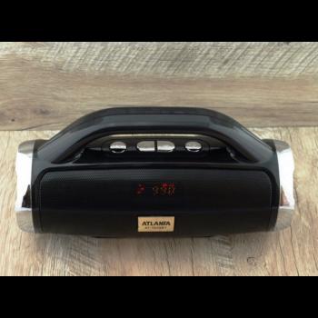 Портативна Bluetooth колонка з FM і MP3 BoomBox 12W Atlanfa AT-1829BT Black