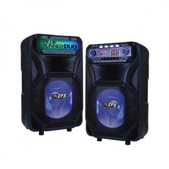 Набор профессиональной акустической системы ZPX со светомузыкой 2 колонки 240W (ZX8899)