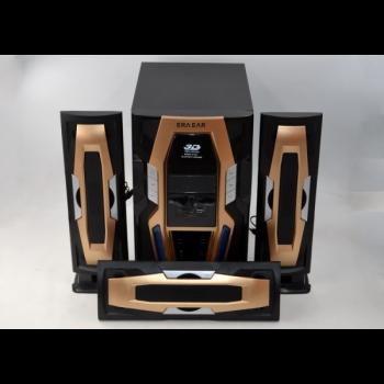 Акустическая система Era музыкальный центр сабвуфер с пультом управления 60 Вт Black Gold (E-503)