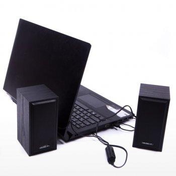 Колонки для ПК и ноутбука компактные и мощные Music-F D-09 Black