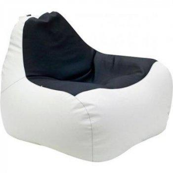 Пуф ПРИМТЕКС ПЛЮС кресло-груша Simba H-2200/D-5 М White-Black (Simba H-2200/D-5 М White-Black)