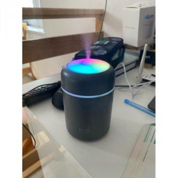 Увлажнитель воздуха Max Robotics M1 2в1 Ночник LED подсветка 300 мл Черный