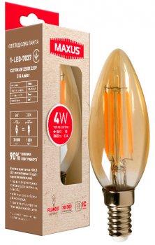 Світлодіодна лампа MAXUS C37 FM 4W 2200K 220V E14 Amber (1-LED-7037)