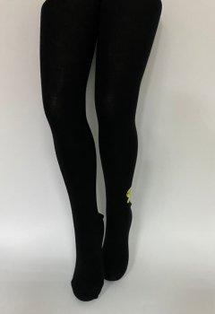 Детские колгтоки для девочек подростков KBS Турция размер 13 рост 158-170 см черные 4-1001
