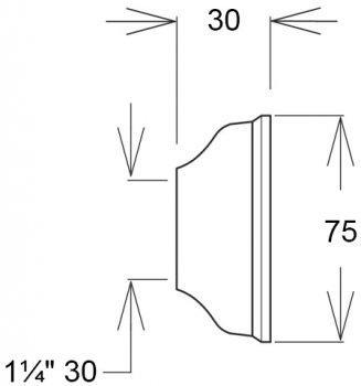 Чашка GHIDINI DN30 х 75 / 30 мм латунь хром (836)