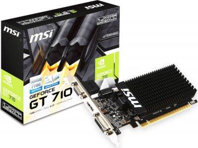 Видеокарта MSI GeForce GT 710 Low Profile 1GB (GT 710 1GD3H LP) (F00157833)