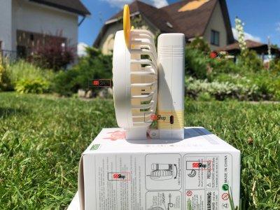 Портативный аккумуляторный мини вентилятор с ушками и складной ручкой DianDi Mini Fan (SQ-2163) Желто-белый
