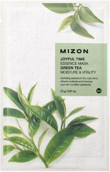 Маска для лица Mizon Joyful Time Essence с экстрактом зеленого чая 23 г (8809479166376)