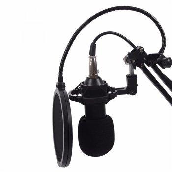 Студійний мікрофон Music D. J. M800 зі стійкою і вітрозахистом Black/Gold