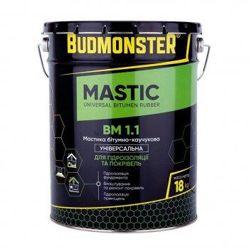 Мастика бітумно-каучукова універсальна BudMonster, 18 кг (85224)