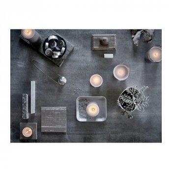 Ароматическая свеча в стакане IKEA SINNLIG мускатный орех и ваниль 7.5 см Серый (103.373.94)