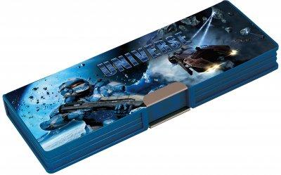 Пенал пластиковий на магніті Cool For School Universe 2 відділення Синій (CF86610)