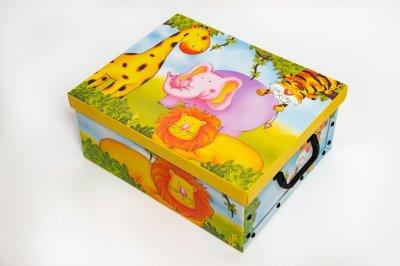 Коробка картонная с пластиковыми ручками Evoluzione 40 х 50 х 25 см Африка (Жираф Слон Лев Тигр) (22)