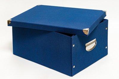 Коробка картонная с металлическими ручками Evoluzione 36 х 48 х 23 см Синяя (26)