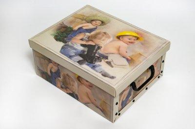 Коробка картонная с пластиковыми ручками Evoluzione 40 х 50 х 25 см Мальчики мастера (13)