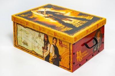 Коробка картонная с пластиковыми ручками Evoluzione 40 х 50 х 25 см Пираты Карибского моря (23)