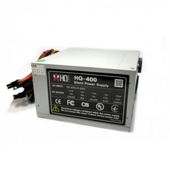 Блок живлення HQTech 400W 80 mm 20+4pin 1x4pin SATA х 2 Molex 4x4pin кабелю немодульні