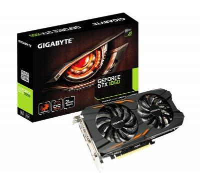 Відеокарта GeForce GTX1050 Gigabyte OC 2Gb DDR5 128bit DVI/3xHDMI/DP 1531/7008 MHz GVN1050WF2OC2GD
