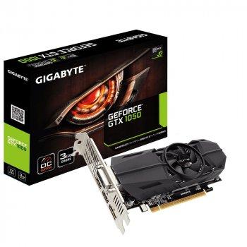 Видеокарта GeForce GTX1050 OC Gigabyte 3Gb DDR5 96bit DVI/2xHDMI/DP 1569/7008 MHz Low Profile GVN1050OC3GL