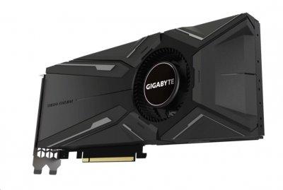 Відеокарта GeForce RTX 2080 OC Gigabyte TURBO 8Gb DDR6 256bit HDMI/3xDP/USB TypeC 1785/14000 MHz 6 pin + 8pin GVN2080TURBO