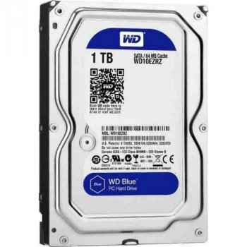 Жорсткий диск 3.5' 1Tb Western Digital Blue SATA3 64Mb 5400 rpm WD10EZRZ (142353)