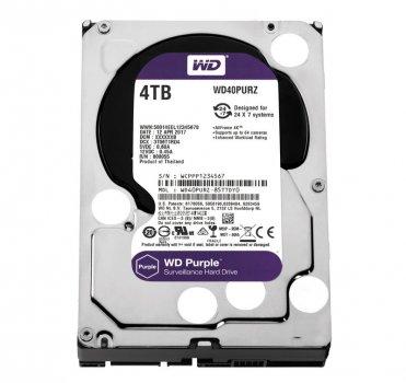 Жорсткий диск 3.5' 4Tb Western Digital Purple SATA3 64Mb 5400 rpm WD40PURZ (148804)