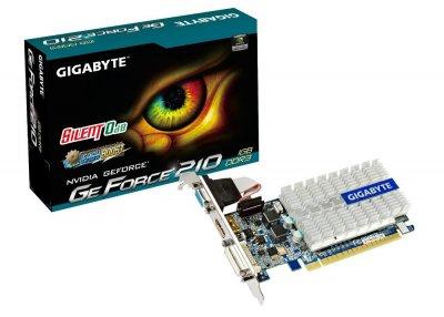 Відеокарта Gigabyte GeForce 210 1Gb DDR3 64bit VGA/DVI/HDMI 520/1200MHz Silent GVN210SL1GI