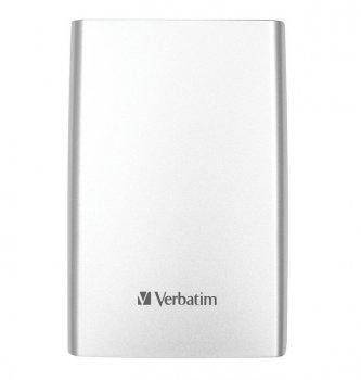 Зовнішній жорсткий диск 500Gb Verbatim store'n'go Silver 2.5' USB 3.0 53021