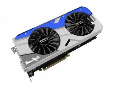 Відеокарта GeForce GTX1070 OC Palit GameRock 8Gb DDR5 256bit DVI/HDMI/3xDP 1746/8000 MHz NE51070T15P21041G