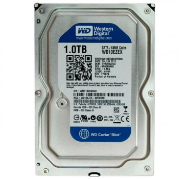 Жорсткий диск 3.5' 1Tb Western Digital Blue SATA3 64Mb 7200 rpm WD10EZEX Ref (143435)