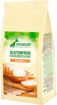 Смесь пекарская Gründorf без глютена для выпечки белого хлеба 500 г (4260386590014)