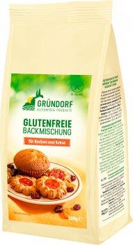 Смесь пекарская Gründorf без глютена для выпечки бисквита и печенья 500 г (4260386590137)