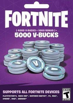 Fortnite 5000 В-баксов 4000 + 1000 V-BUCKS PS4