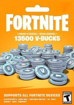 Fortnite 13500 В-баксов 10000 + 3500 V-BUCKS PS4
