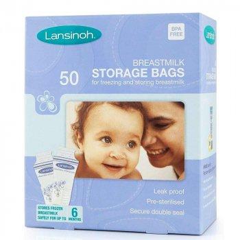 Пакети для зберігання і заморожування грудного молока Lansinoh 50 шт (40055)