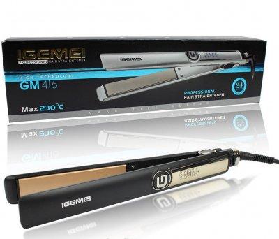 Профессиональный керамический выпрямитель для волос с регулировкой температуры GEMEI PRO SERIES GM416 Original